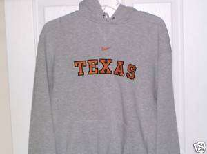 NIKE Texas Longhorns Gray Orange Embroidered Hoodie Jacket Mens Size