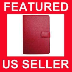 NookColor Genuine Leather Cover Case RED