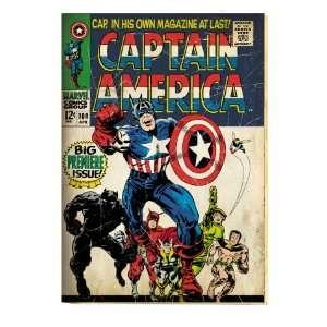 Marvel Comics Retro Captain America Comic Book Cover #100