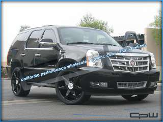 OF 4 CADILLAC 24 INCH CADILLAC ESCALADE WHEELS RIMS TIRE PACKAGE NEW