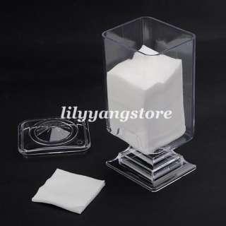 400pcs nail art polish remover Cotton Pad paper + Wipe Holder Case