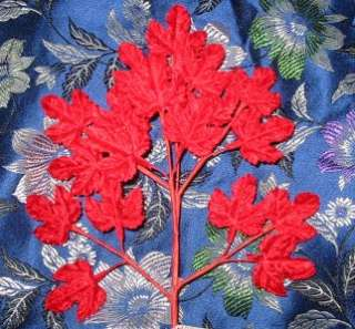 Millinery Red Velvet Tiny Japanese Maple Leaves