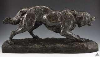 Lovely Antique French Mene Bronze Dog Sculpture/Statue