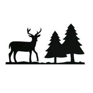 Deer & Pine Trees Mail Box Topper