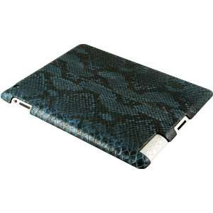 100% Genuine Python Snake Leather iPad 2 Case   Cloud Blue