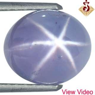 Natural Six Rays Blue Star Sapphire Gemstone Oval Cab Sri Lanka Unheat