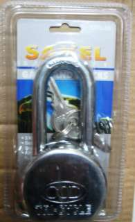 SAKEL 2 1/2 LONG SHAFT heavy duty grade SOLID STEEL PADLOCK PAD LOCK