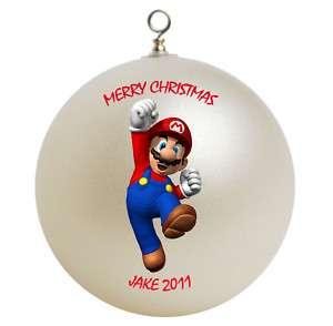 Personalized Super Mario Christmas Ornament Add Name