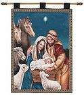 Nativity Christian Tapestry Wall Hanging