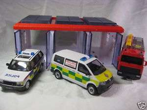 EMERGENCY Cars + Garage Cararama Diecast Collection Model 1/43 143