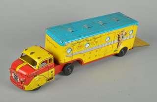 MARX Roy Rogers Trigger Tin Litho Toy Horse Trailer Semi Truck