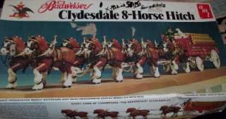 CLYDESDALE 8 HORSE HITCH & WAGON AMT MODEL 1/20 SCALE KIT N/R!