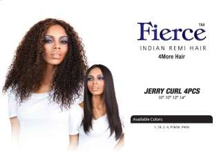 Fierce Indian Remi Jerry Curl 4pcs Human Hair Weaving