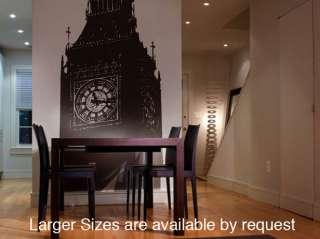 Vinyl Wall Decal Sticker Big Ben Clock Britain U.K. 6ft