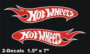Hot Wheels Logo Vinyl Decal Window Sticker Set Of 2