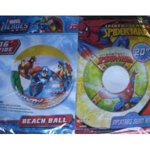 Spider man 20 Swim Ring & Marvel Heroes 16beach Ball
