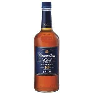 Club 10Yr Reserve Canadian Whisky 750ml Grocery & Gourmet Food